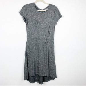Halogen Gray Chic Hi-Lo Dress with Pockets Medium